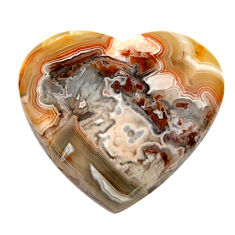 mexican laguna lace agate 21x19 mm heart loose gemstone s17404