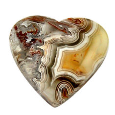 mexican laguna lace agate 21x20 mm heart loose gemstone s17420