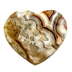 Natural 15.10cts mexican laguna lace agate 22.5x21mm heart loose gemstone s17401