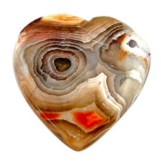 Natural 17.40cts mexican laguna lace agate 22.5x21mm heart loose gemstone s17405