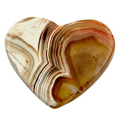 Natural 12.45cts mexican laguna lace agate 22x18.5mm heart loose gemstone s17403