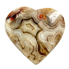 Natural 19.20cts mexican laguna lace agate 23x22.5mm heart loose gemstone s17402