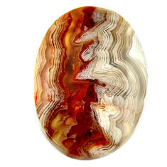 mexican laguna lace agate 26x18 mm oval loose gemstone s17430
