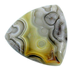 Natural 29.35cts mexican laguna lace agate 27.5x26 mm loose gemstone s24739