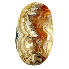 Natural 17.40cts mexican laguna lace agate 27x18.5 mm oval loose gemstone s17450