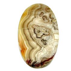 mexican laguna lace agate 28.5x17 mm oval loose gemstone s17426