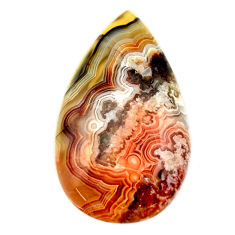 mexican laguna lace agate 30x17 mm pear loose gemstone s17432