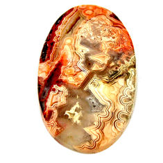 Natural 26.30cts mexican laguna lace agate 30x18.5 mm oval loose gemstone s17422