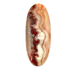 Natural 13.25cts mexican laguna lace agate 32.5x12.5 mm loose gemstone s17433