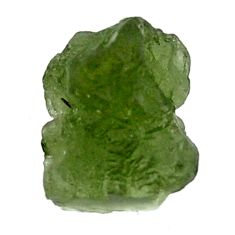 Natural 6.25cts moldavite (genuine czech) rough 12x11 mm loose gemstone s16097