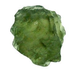 Natural 8.45cts moldavite (genuine czech) rough 13.5x13 mm loose gemstone s16096