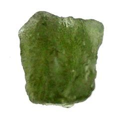 Natural 7.40cts moldavite (genuine czech) rough 13x8.5 mm loose gemstone s16091