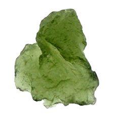 Natural 6.25cts moldavite (genuine czech) rough 15x13.5 mm loose gemstone s16116
