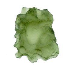 moldavite (genuine czech) rough 17x12 mm loose gemstone s16112