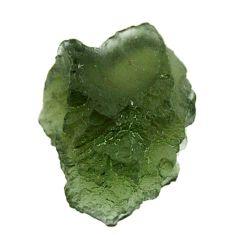moldavite (genuine czech) rough 17x14 mm loose gemstone s16093
