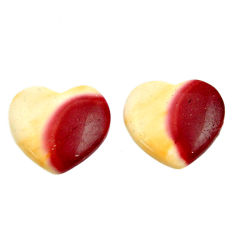 Natural 14.30cts mookaite brown cabochon 16x15 mm loose pair gemstone s16844