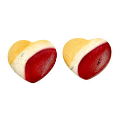 Natural 13.15cts mookaite brown cabochon 16x15 mm loose pair gemstone s16858