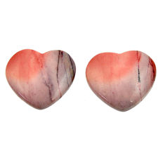 Natural 19.45cts mookaite brown cabochon 18x16 mm loose pair gemstone s16853