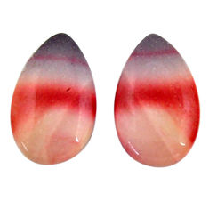 Natural 15.10cts mookaite brown cabochon 19x11.5 mm pair loose gemstone s18899