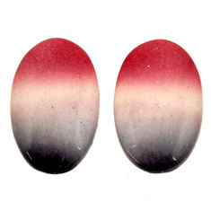 Natural 17.10cts mookaite brown cabochon 20x12 mm loose pair gemstone s16863