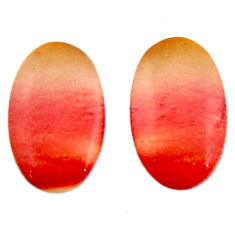 Natural 15.30cts mookaite brown cabochon 20x12 mm pair loose gemstone s18895