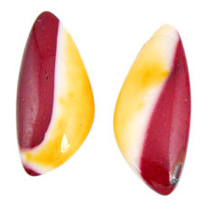 Natural 12.40cts mookaite brown cabochon 23.5x10 mm fancy loose gemstone s19628
