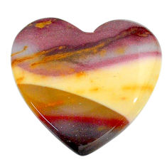 Natural 21.30cts mookaite brown cabochon 23x22 mm heart loose gemstone s24855