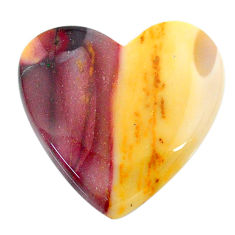 Natural 23.15cts mookaite brown cabochon 23x23 mm heart loose gemstone s24857