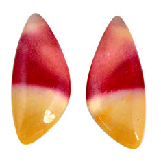 Natural 12.40cts mookaite brown cabochon 24x10 mm fancy loose gemstone s19621