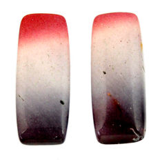 Natural 17.40cts mookaite brown cabochon 24x10 mm loose pair gemstone s16876