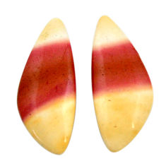 Natural 12.40cts mookaite brown cabochon 24x10 mm pair loose gemstone s18890