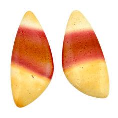 mookaite brown cabochon 25x10 mm loose pair gemstone s16865