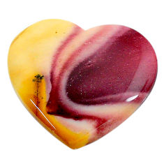 Natural 22.40cts mookaite brown cabochon 26x23.5 mm heart loose gemstone s24854