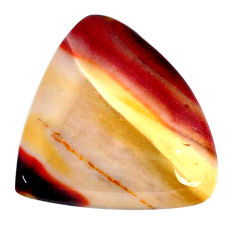 Natural 32.65cts mookaite brown cabochon 31x28 mm heart loose gemstone s20923