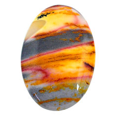 Natural 29.05cts mookaite brown cabochon 32x21 mm oval loose gemstone s24844