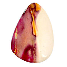 Natural 27.85cts mookaite brown cabochon 38x25 mm pear loose gemstone s20927