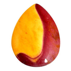 Natural 40.15cts mookaite brown cabochon 38x27 mm pear loose gemstone s21891