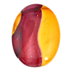 Natural 54.45cts mookaite brown cabochon 40x28 mm oval loose gemstone s21900