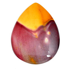 Natural 50.15cts mookaite brown cabochon 41x29 mm pear loose gemstone s21886
