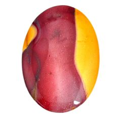Natural 44.45cts mookaite brown cabochon 44x29 mm oval loose gemstone s21894