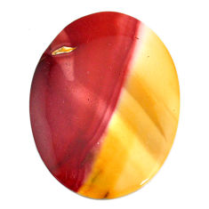 Natural 54.45cts mookaite brown cabochon 50x36 mm oval loose gemstone s21896