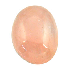 Natural 20.25cts morganite orange cabochon 21x15 mm oval loose gemstone s16429