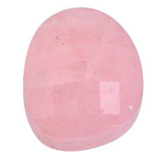 Natural 15.40cts morganite pink cabochon 15x13 mm faceted loose gemstone s20558