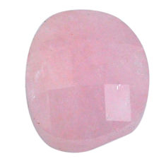 Natural 13.10cts morganite pink cabochon 15x13mm faceted loose gemstone s20554