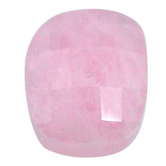 Natural 19.35cts morganite pink cabochon 16x13.5mm faceted loose gemstone s20557