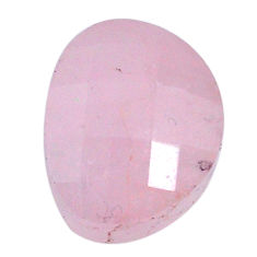 Natural 17.40cts morganite pink cabochon 17x13mm faceted loose gemstone s20550