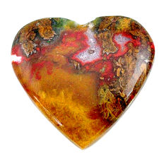 Natural 24.15cts moroccan seam agate brown 25x24 mm heart loose gemstone s24616