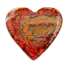 Natural 25.10cts moroccan seam agate brown 26x25 mm heart loose gemstone s24619