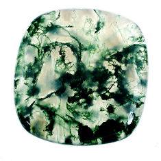 Natural 29.30cts moss agate green cabochon 26x25mm cushion loose gemstone s20725