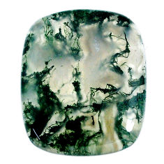 Natural 39.35cts moss agate green cabochon 29x23.5mm loose gemstone s20726